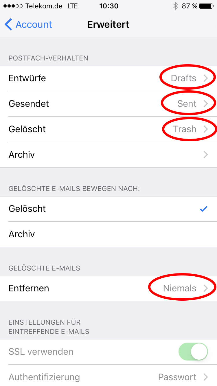 iPhone Email Auto Configuration